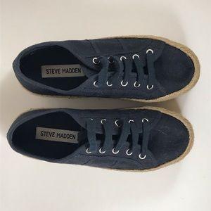 Steve Madden Navy Espadrille Size 5